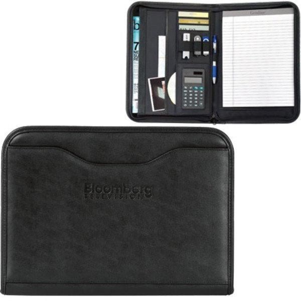 Wall Street Calculator Zippered Padfolio