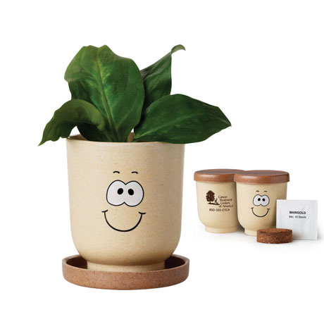 Goofy™ Grow Pot Eco-Planter w/Marigold Seeds