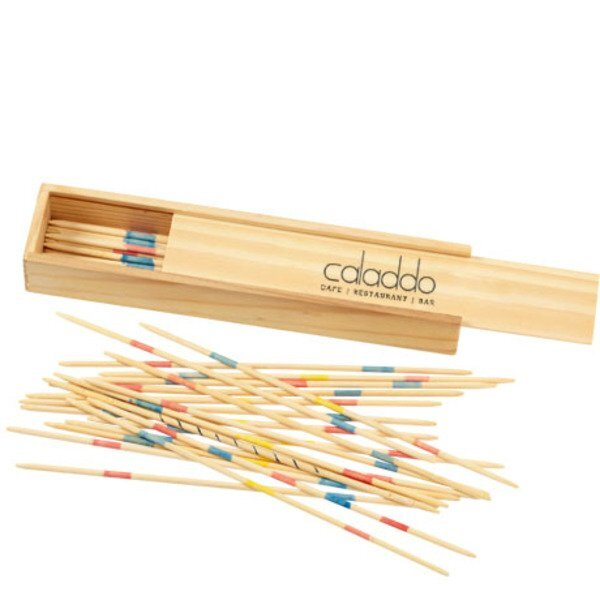 Pick-Up Sticks in Wood Box
