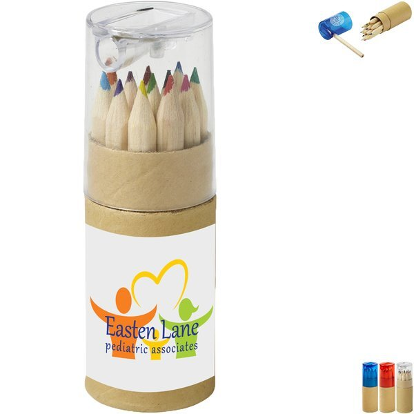 Colored Pencils in Tube w/ Sharpener, 12-Color