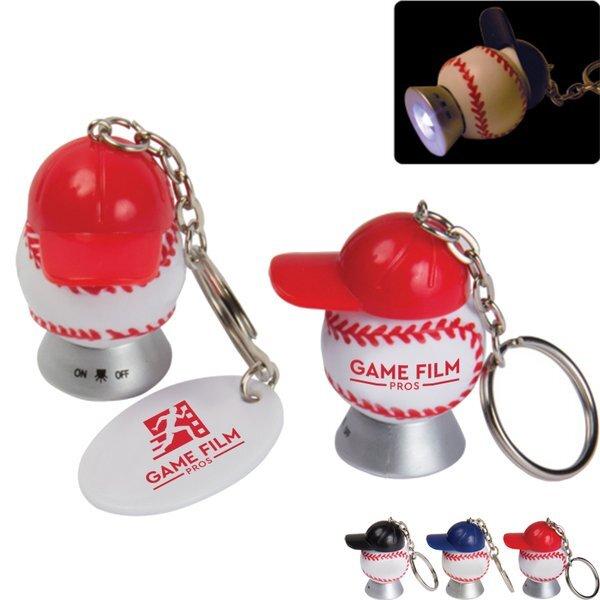 Light Up Baseball Keytag