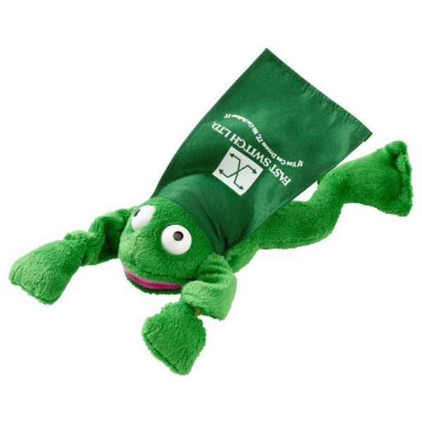 Flying Croaking Plush Frog