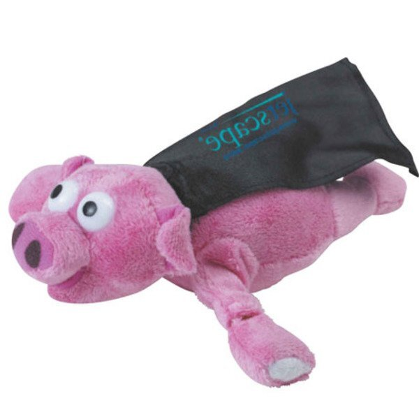Flying Oinking Plush Pig