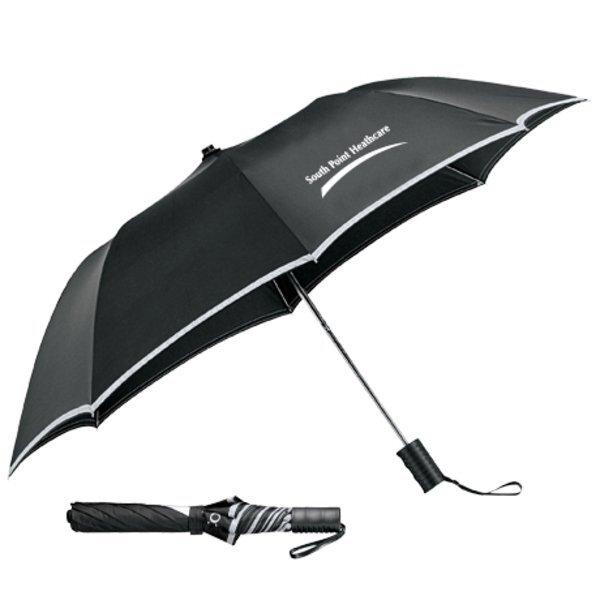 "Reflective Auto Folding Safety Umbrella, 42"" Arc"