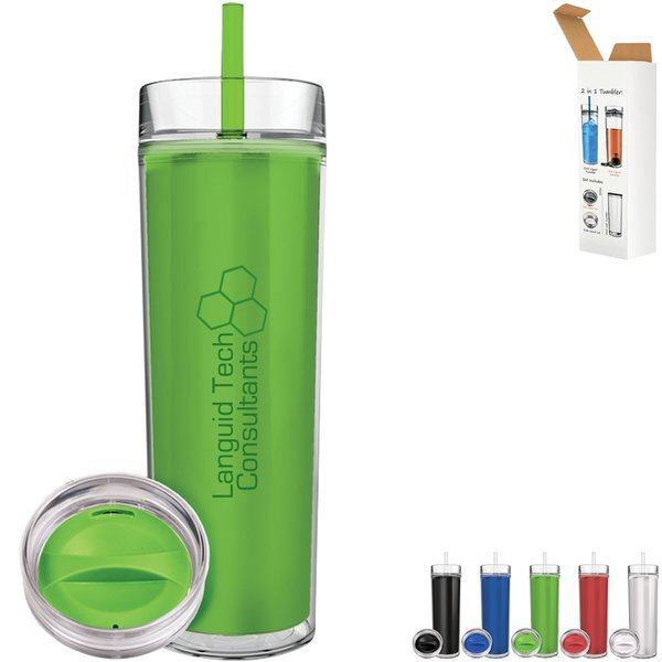 Colorview Acrylic Tumbler Hot & Cold Combo, 15oz.