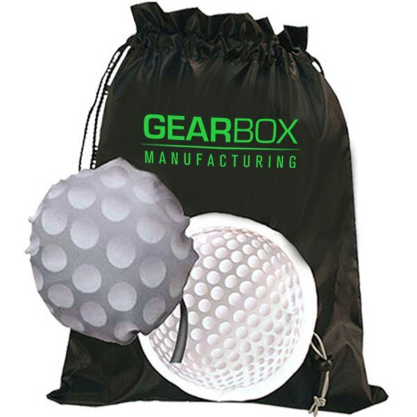 Golf Themed Fold-Up Cinchpack