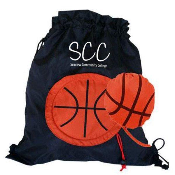 Basketball Themed Fold-Up Cinchpack