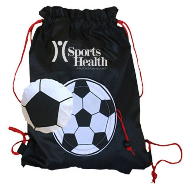 Soccer Themed Fold-Up Cinchpack