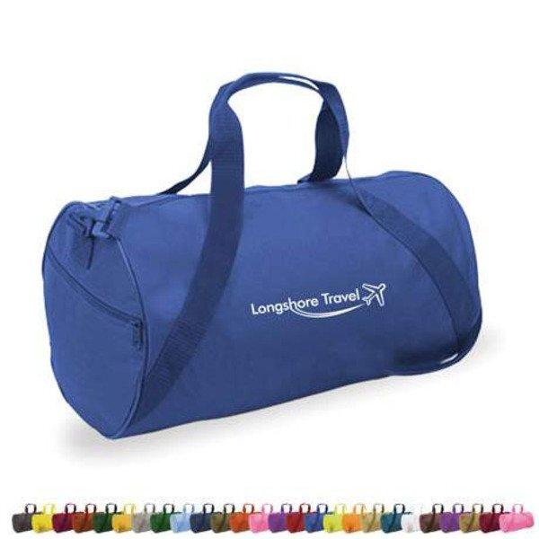"""Classic Polycanvas Barrel Duffel Bag, 18"""""""