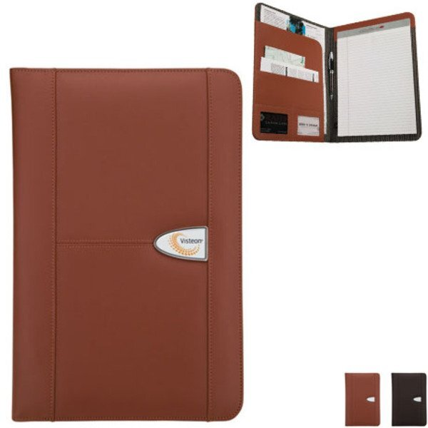Leather Padfolio w/ Full Color Dome Imprint
