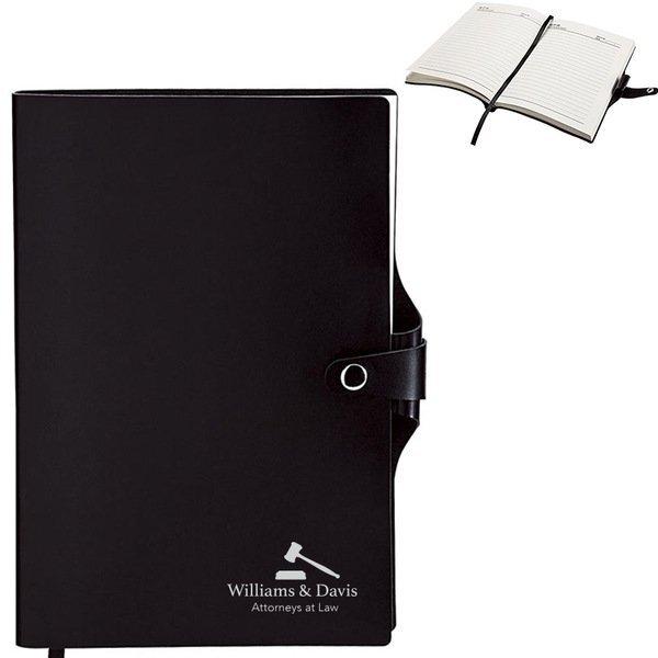 "Junior Leatherette Journal w/ Pen Holder, 6"" x 8-1/2"""