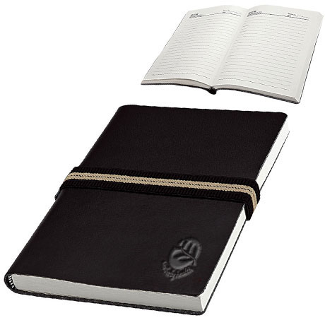 "Junior Leatherette Journal w/ Elastic Band, 6"" x 8-1/2"""
