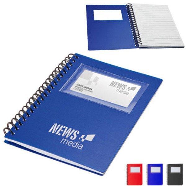 """Business Card Holder Notebook, 5-3/8"""" x 7"""""""