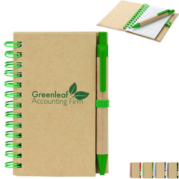"""Junior Recycled Notebook & Pen, 3-3/8"""" x 4-3/4"""""""