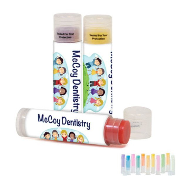 Fashion  Flavors Tinted Beeswax Lip Balm, Full Color Imprint