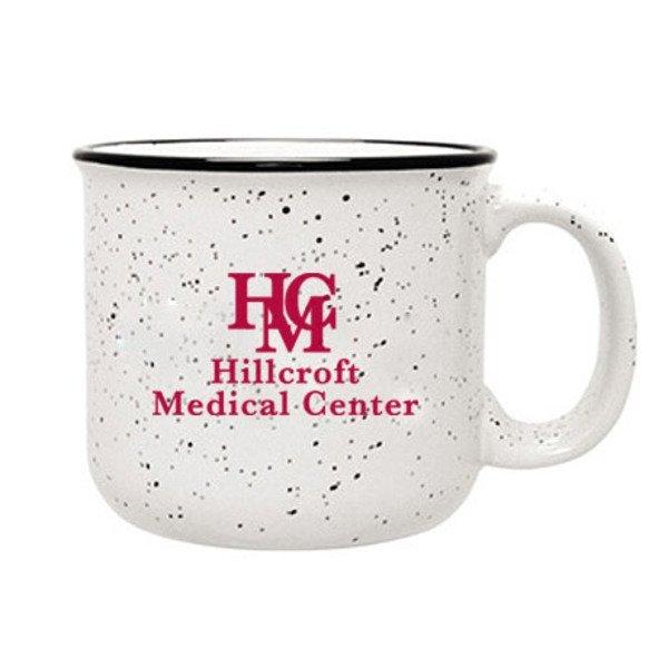 Speckled Ceramic Camper Mug, 14oz. - White