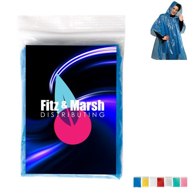 Rain Poncho w/ Full Color Card