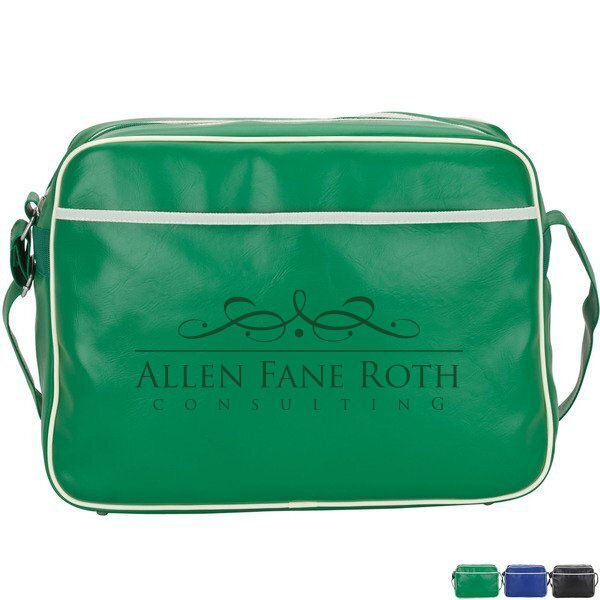 Retro Leatherette Airline Shoulder Bag