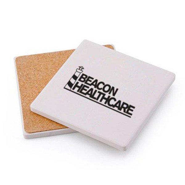 Absorbent Square Ceramic Coaster