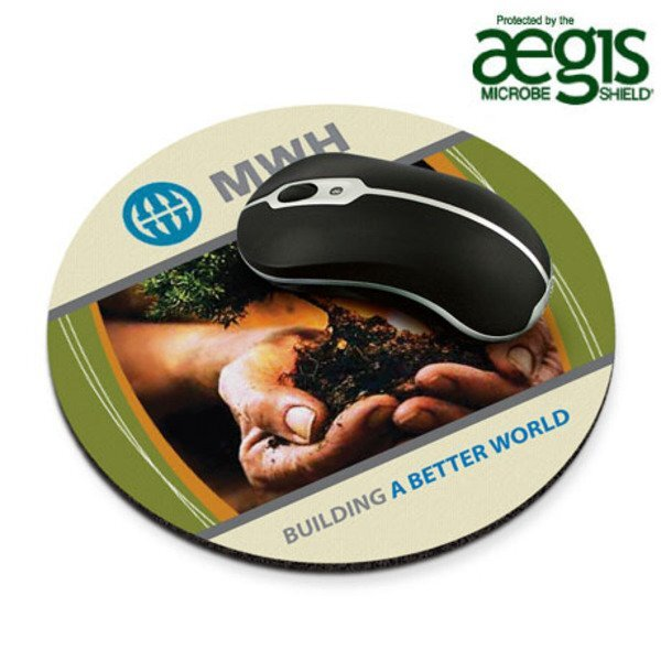 Recycled Mouse Mat® - Round w/ Aegis Microbe Shield