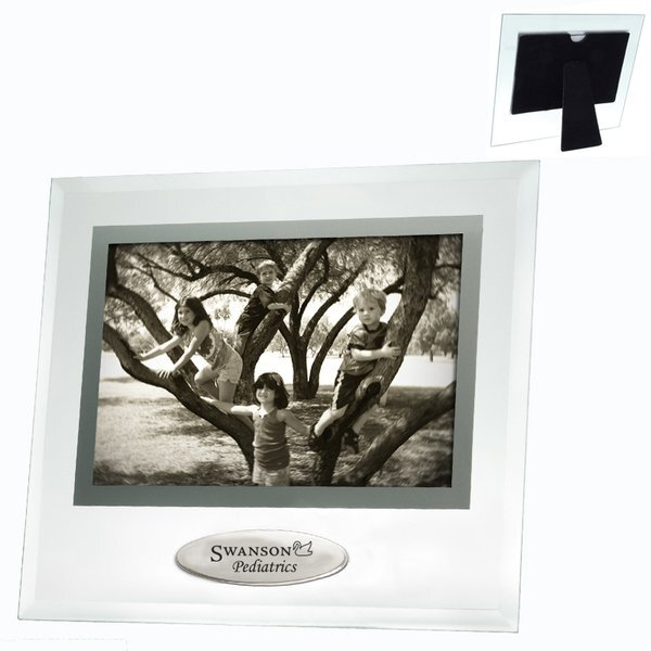 Beveled Glass Frame w/ Metal Accent, 6 x 4