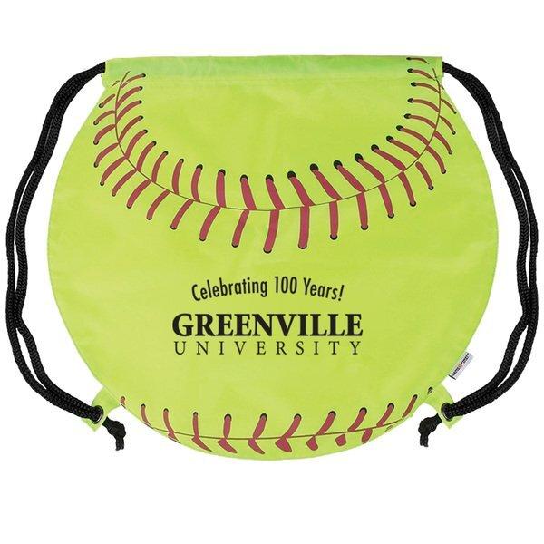 Gametime!® Softball Drawstring Polyester Backpack