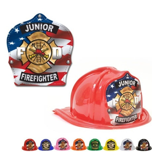 Chief's Choice Kid's Firefighter Hat, Patriotic Maltese Design, Stock