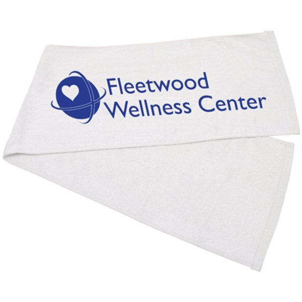 "Cotton Terry Fitness Towel, 11"" x 44"""