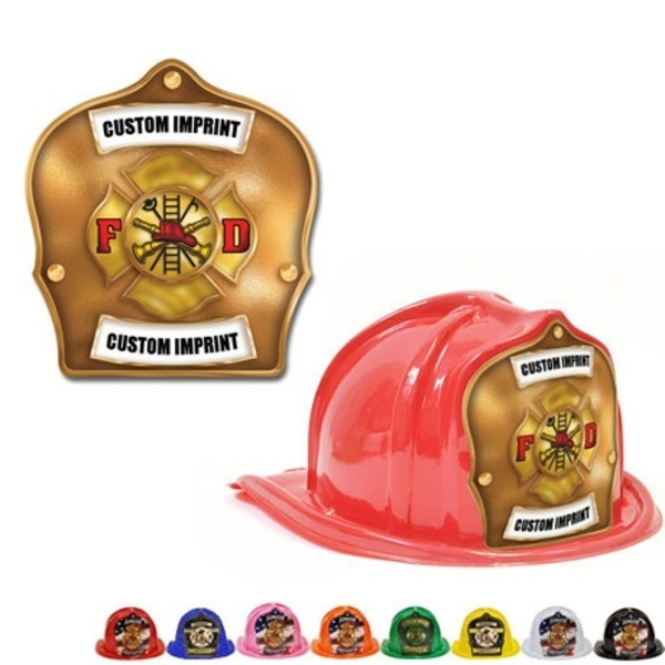 Chief's Choice Kid's Firefighter Hat, Maltese Cross Gold Background