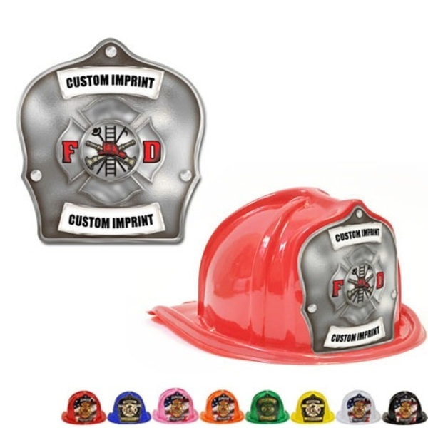 Chief's Choice Kid's Firefighter Hat, Maltese Cross Silver Background