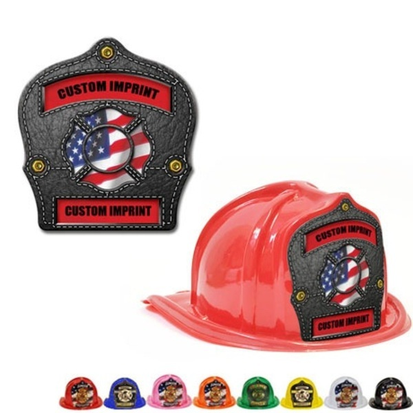 Chief's Choice Kid's Firefighter Hat, Leather Background