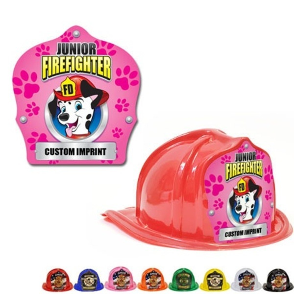 Chief's Choice Kid's Firefighter Hat, Dalmatian Pink Paw Design