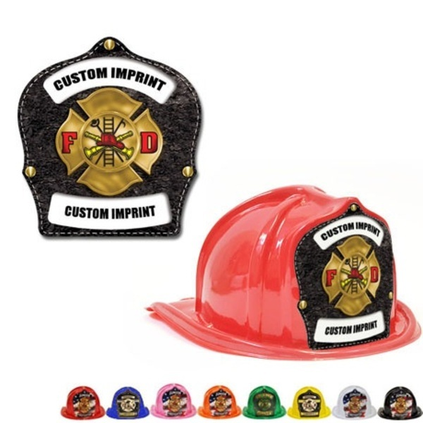 Chief's Choice Kid's Firefighter Hat, Leather & Gold Maltese Design