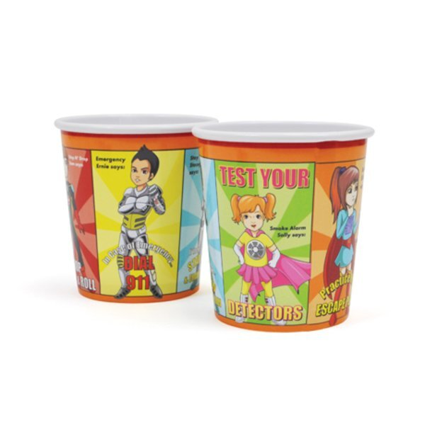 Fab 5 Fire Safety Squad Cup, 12oz., Stock- Closeout, On Sale!
