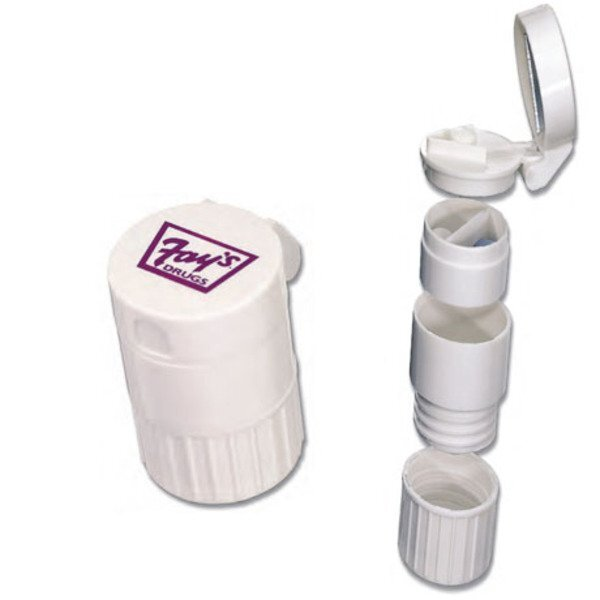 Four-in-One Pill Box, Travel Cup & Pill Cutter