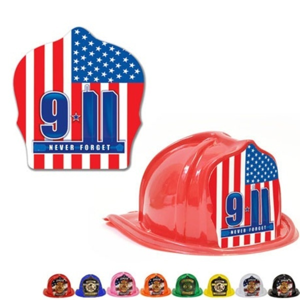 Chief's Choice Kids Firefighter Hat, 9-11 Memorial Design, Stock