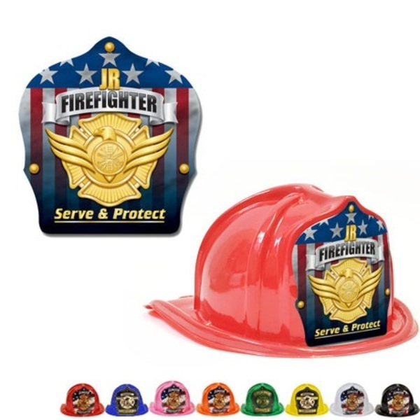 Chief's Choice Kid's Firefighter Hat, Serve & Protect Gold Shield, Stock