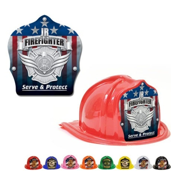 Chief's Choice Kid's Firefighter Hat, Serve & Protect Silver Shield, Stock