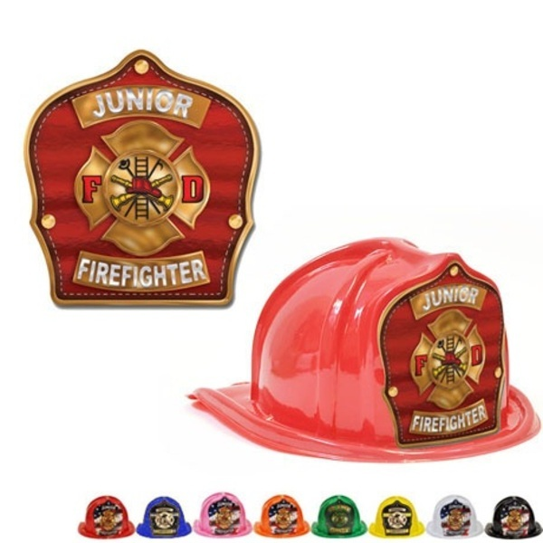 Chief's Choice Kid's Firefighter Hat, Gold Maltese Design, Stock