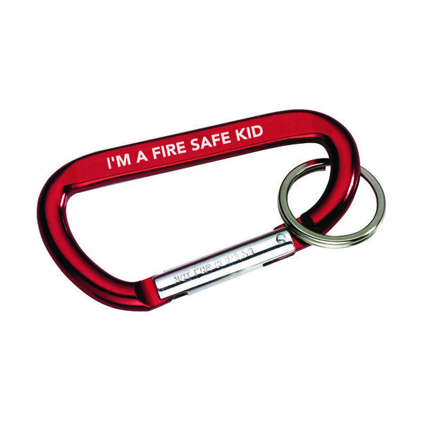 I'm A Fire Safe Kid Carabiner, Stock