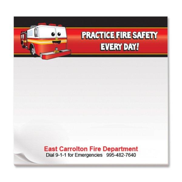 Practice Fire Safety Every Day, 25 Sheet Sticky Pad