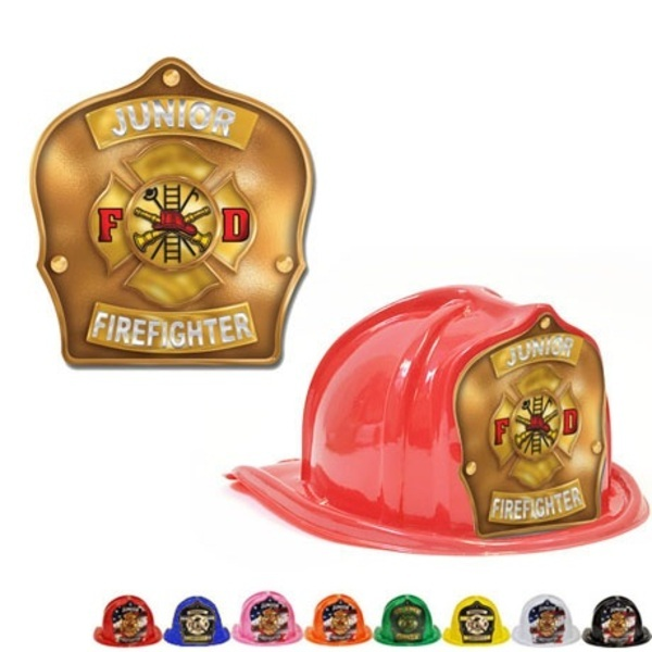 Chief's Choice Kid's Firefighter Hat, Maltese Cross Gold Background, Stock