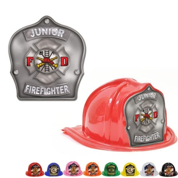 Chief's Choice Kid's Firefighter Hat, Maltese Cross Silver Background, Stock