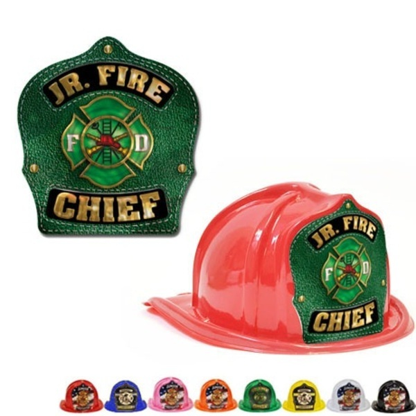 Chief's Choice Kid's Firefighter Hat, Green Maltese Design, Stock