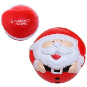 Round Santa Stress Reliever