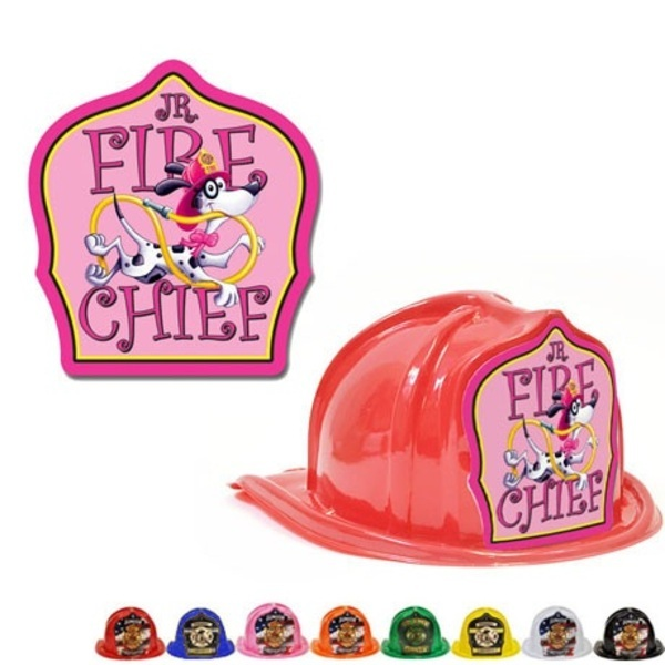 Chief's Choice Kid's Firefighter Hat, Jr. Fire Chief Pink Design, Stock