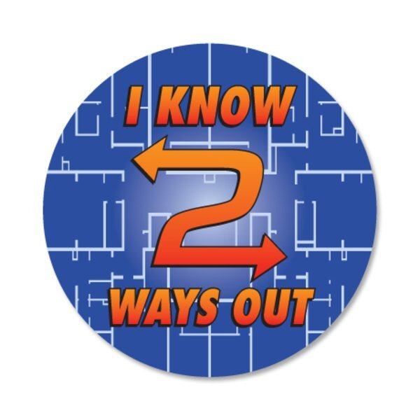 I Know Two Ways Out Sticker Roll, Stock
