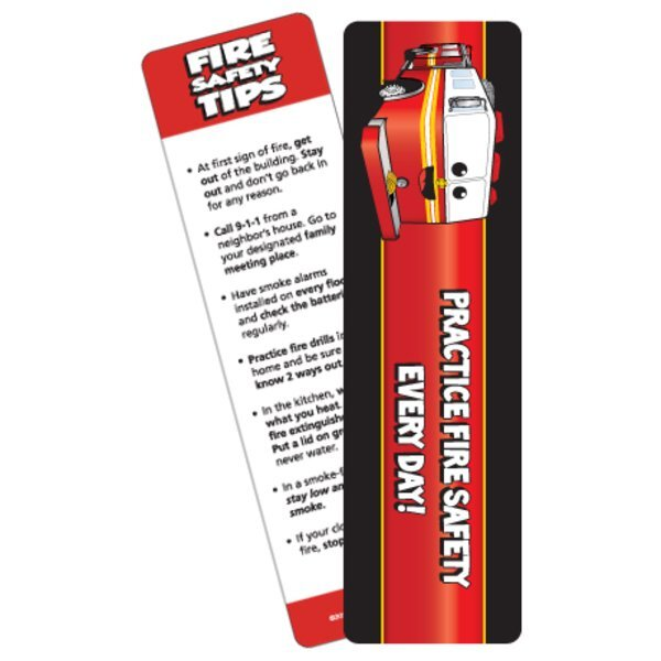 Practice Fire Satety Fire Truck Bookmark, Stock