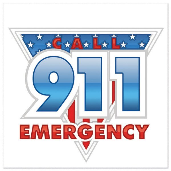 Call 911 Emergency Temporary Tattoo, Stock