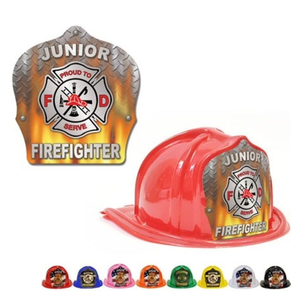 Chief's Choice Kid's Firefighter Hat, Flame Design, Stock
